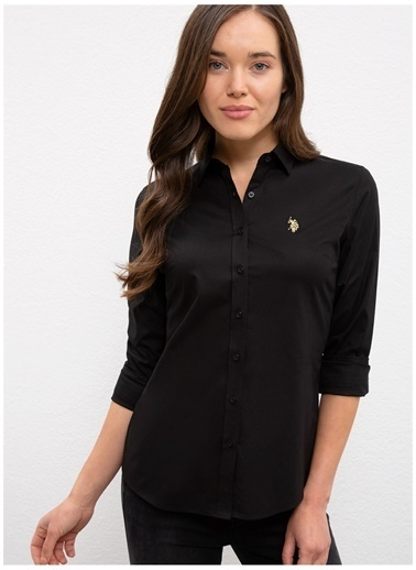 U.S. Polo Assn. U.S. Polo Assn. Slim Fit Siyah Gömlek Siyah